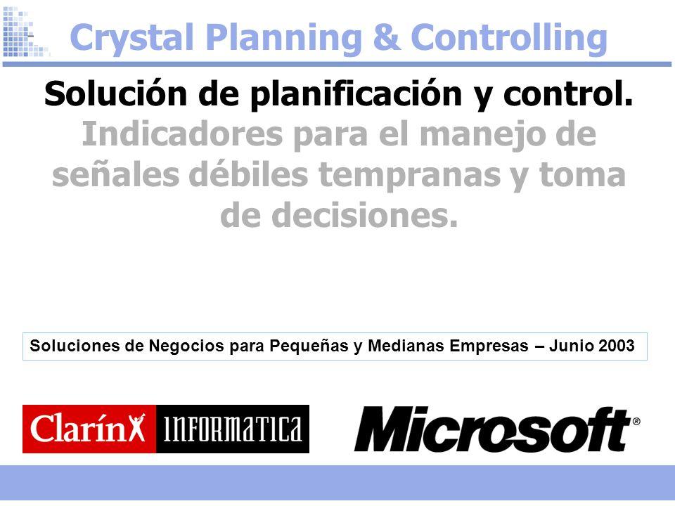 Crystal Planning & Controlling Solución de planificación y control.