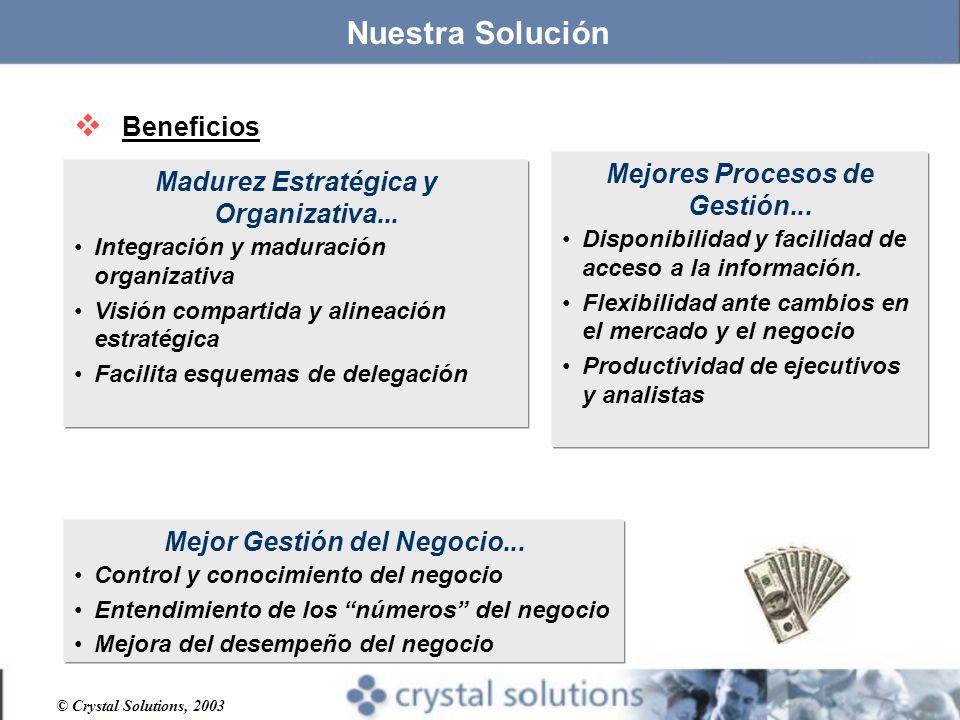 © Crystal Solutions, 2003 Madurez Estratégica y Organizativa...