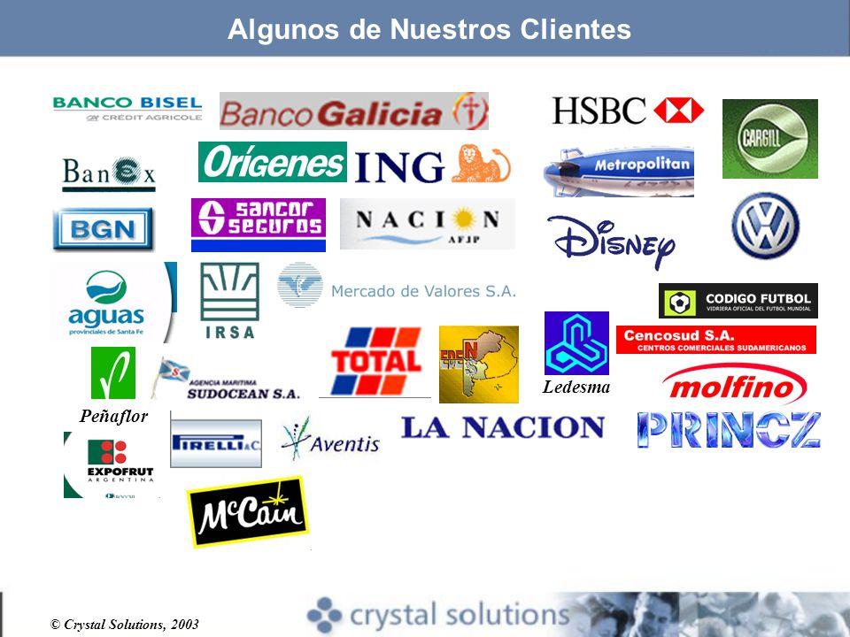 © Crystal Solutions, 2003 Ledesma Peñaflor Algunos de Nuestros Clientes