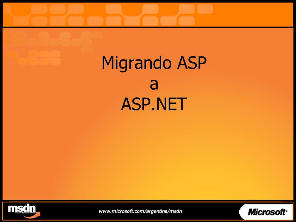 Migrando ASP a ASP.NET