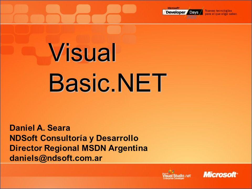 Visual Basic.NET Daniel A.