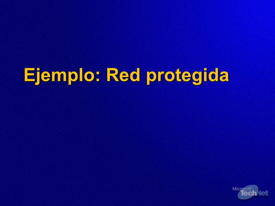 Ejemplo: Red protegida