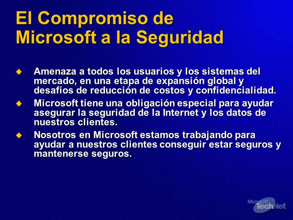 El Compromiso de Microsoft a la Seguridad Amenaza a todos los usuarios y los sistemas del mercado, en una etapa de expansión global y desafíos de redu