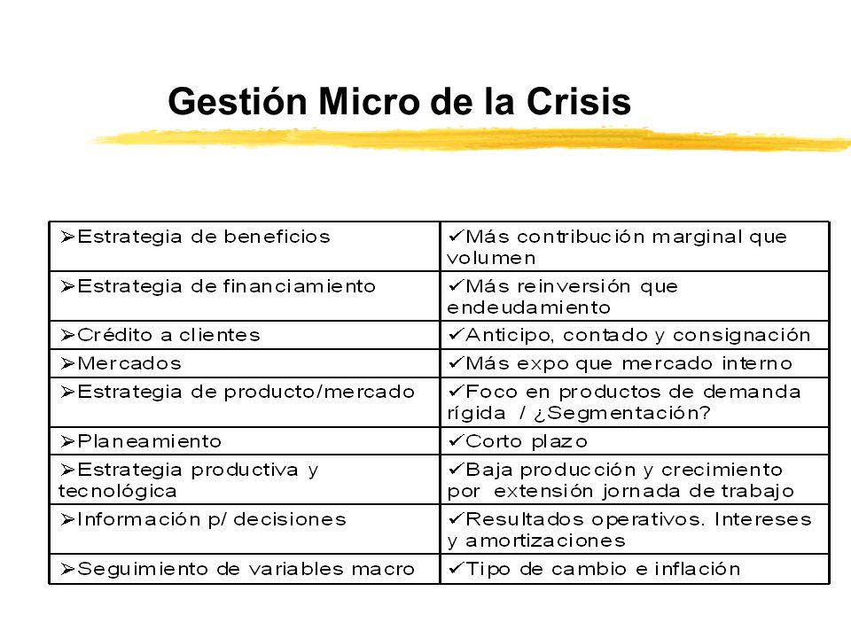 Gestión Micro de la Crisis