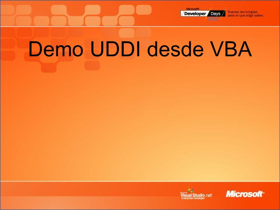 Demo UDDI desde VBA