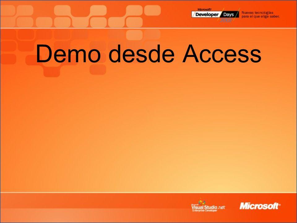 Demo desde Access