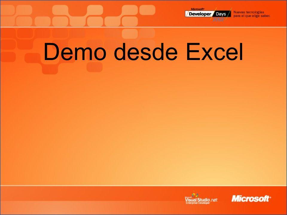 Demo desde Excel