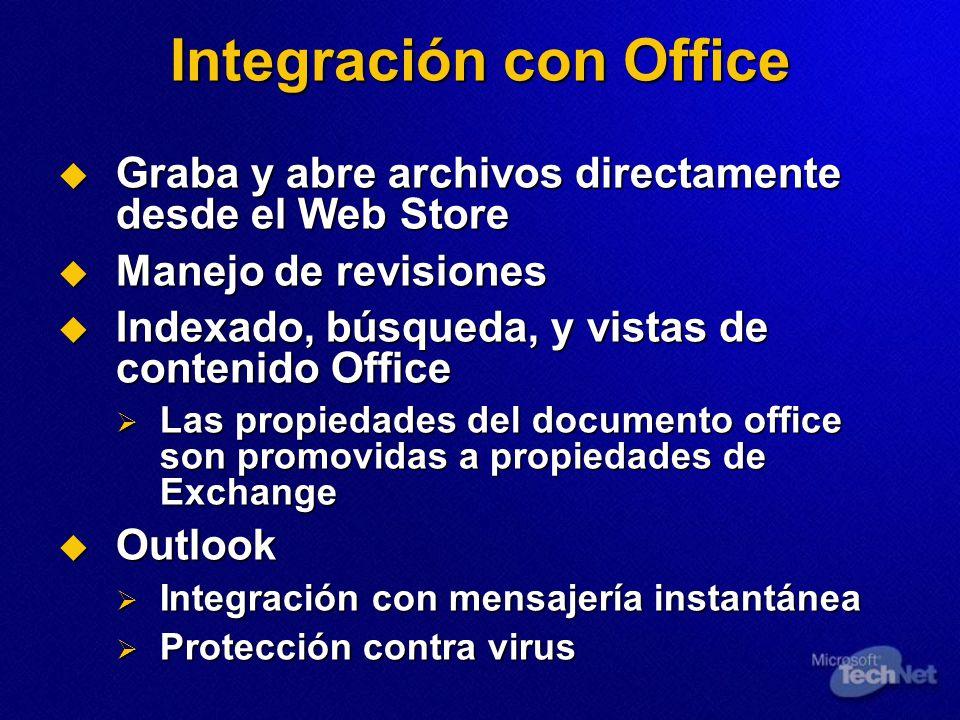 Integración con Office Graba y abre archivos directamente desde el Web Store Graba y abre archivos directamente desde el Web Store Manejo de revisione