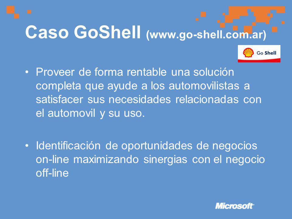 Caso GoShell (www.go-shell.com.ar) Proveer de forma rentable una solución completa que ayude a los automovilistas a satisfacer sus necesidades relacionadas con el automovil y su uso.