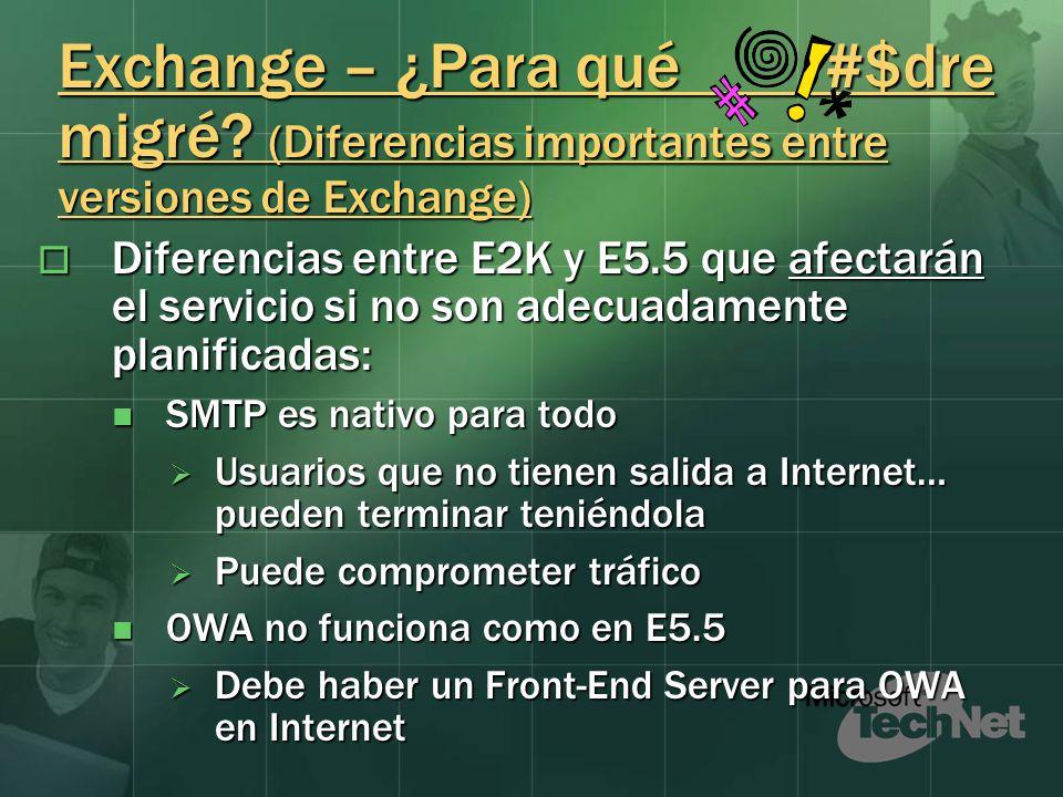 Exchange – ¿Para qué #$dre migré.