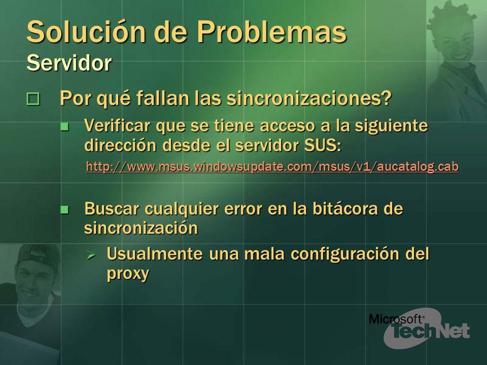 Solución de Problemas Servidor Por qué fallan las sincronizaciones.