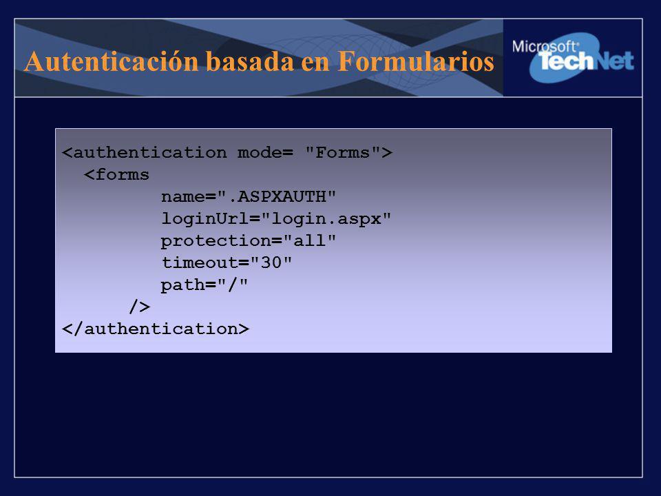 Autenticación basada en Formularios <forms name=
