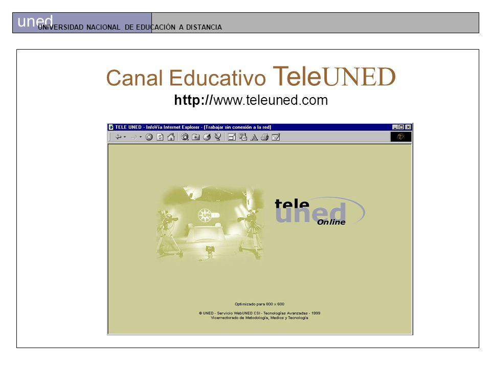 uned UNIVERSIDAD NACIONAL DE EDUCACIÓN A DISTANCIA R adio UNED http://www.radiouned.com