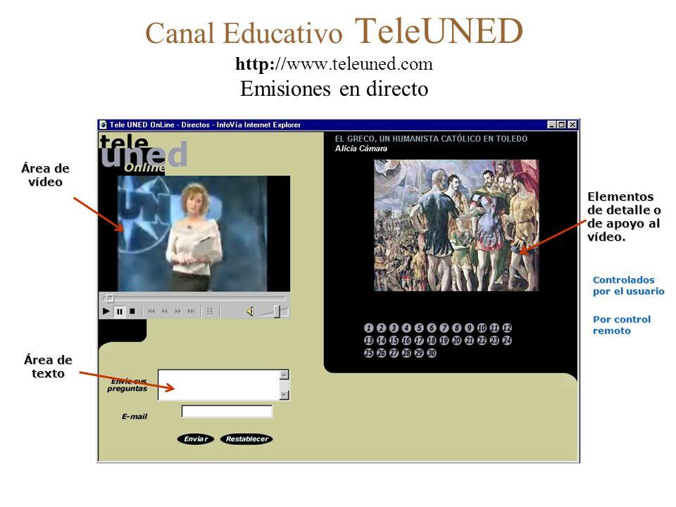 uned UNIVERSIDAD NACIONAL DE EDUCACIÓN A DISTANCIA Canal Educativo Tele UNED http://www.teleuned.com