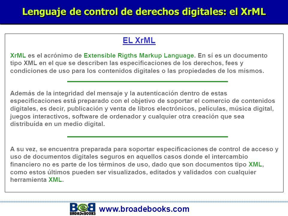 www.broadebooks.com EL OEB (Open E-BOOK) OEB es el estándar Open e-book.