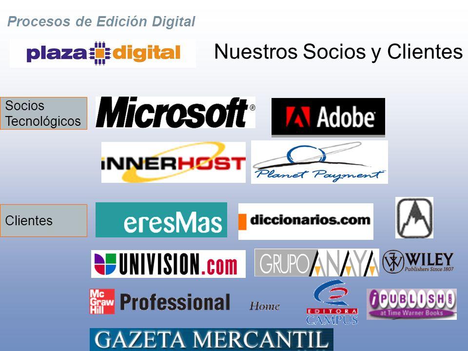 Procesos de Edición Digital Pioneros en Edición Digital La Compañía Basados en Miami, Florida Presencia global en España, EE.UU, y América Latina Proveedor completo de servicios de edición, gestión, y distribución de contenidos digitales.
