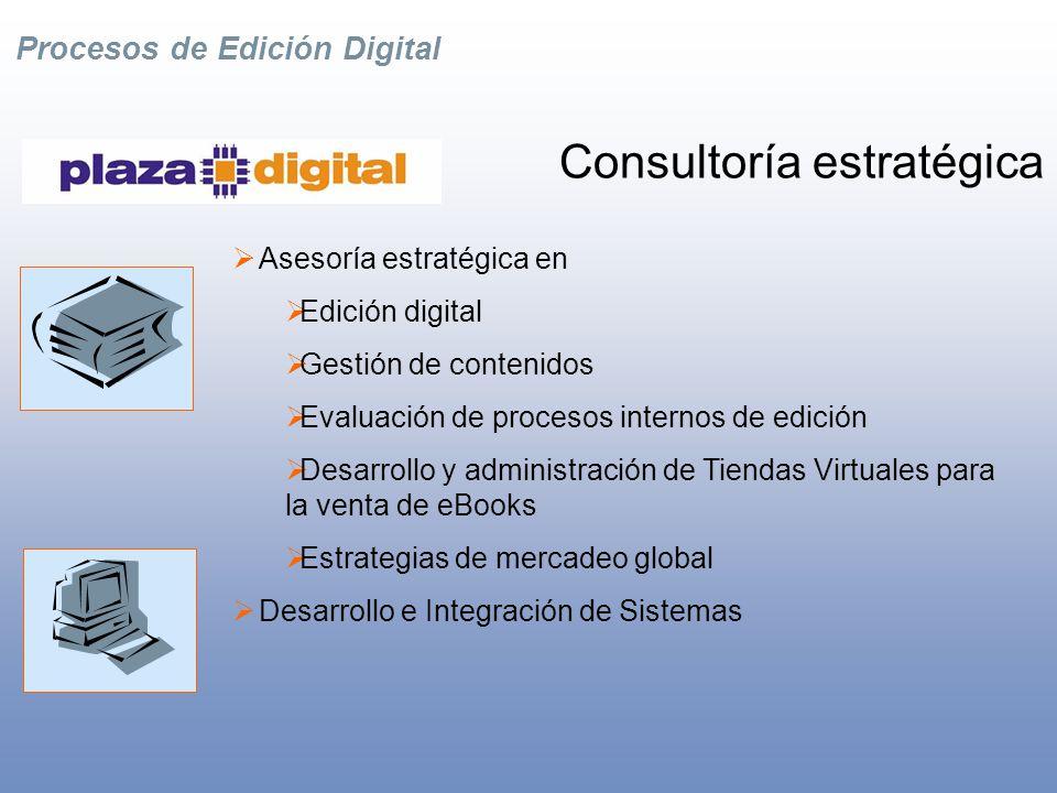 Procesos de Edición Digital Tiendas Digitales Desarrollo y Administración de Tiendas Virtuales para la venta de eBooks.