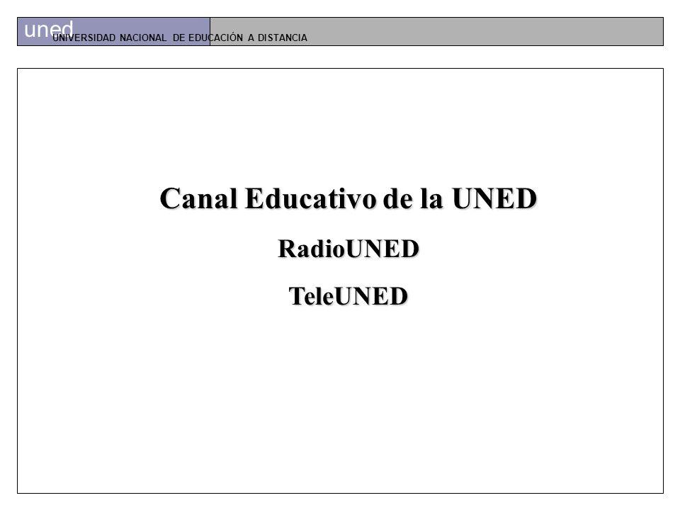 uned UNIVERSIDAD NACIONAL DE EDUCACIÓN A DISTANCIA NUEVAS TECNOLOGÍAS EN LA UNED