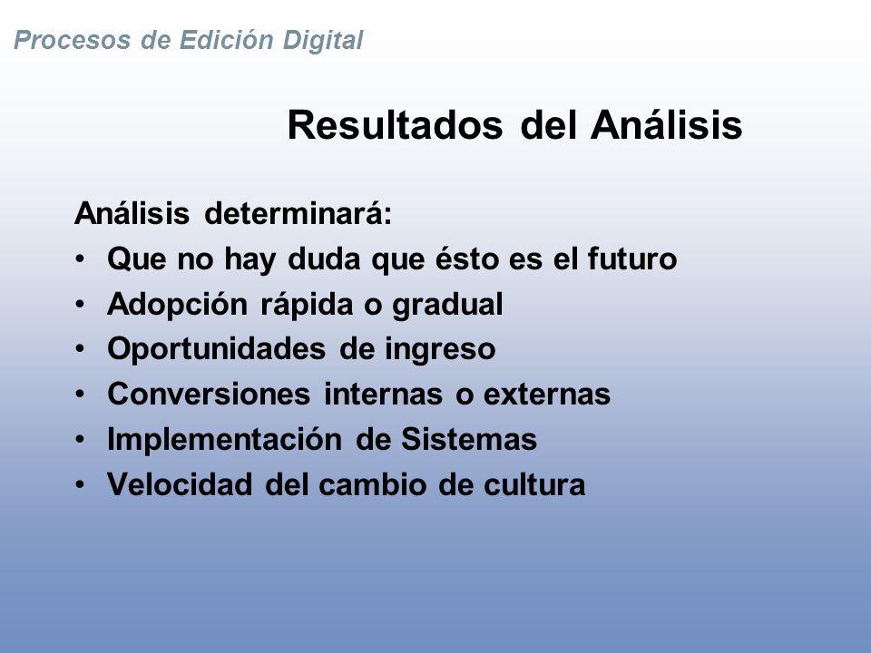Procesos de Edición Digital Estrategias Generales para Editores Niveles –Análisis de Contenidos y Procesos –Conversiones / Digitalizaciones –Gestión de Contenidos –Métodos de Distribución –Sistemas e Infraestructura