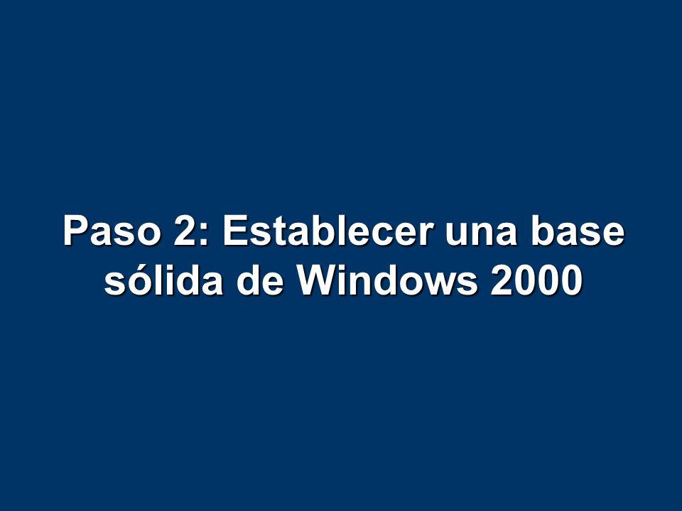 Paso #2, Base sólida de Win2k El factor #1 para lograr una implantación satisfactoria de E2K o cualquier producto Microsoft es una implantación satisfactoria de W2K El factor #1 para lograr una implantación satisfactoria de E2K o cualquier producto Microsoft es una implantación satisfactoria de W2K Nota: No es necesario haber implementado completamente W2K…… Nota: No es necesario haber implementado completamente W2K…… Entonces ¿En qué momento interactua o se relaciona Exchange 2000 con Windows 2000.