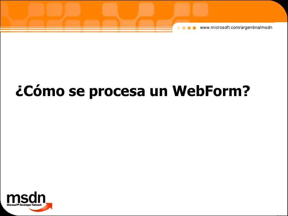 ¿Cómo se procesa un WebForm?
