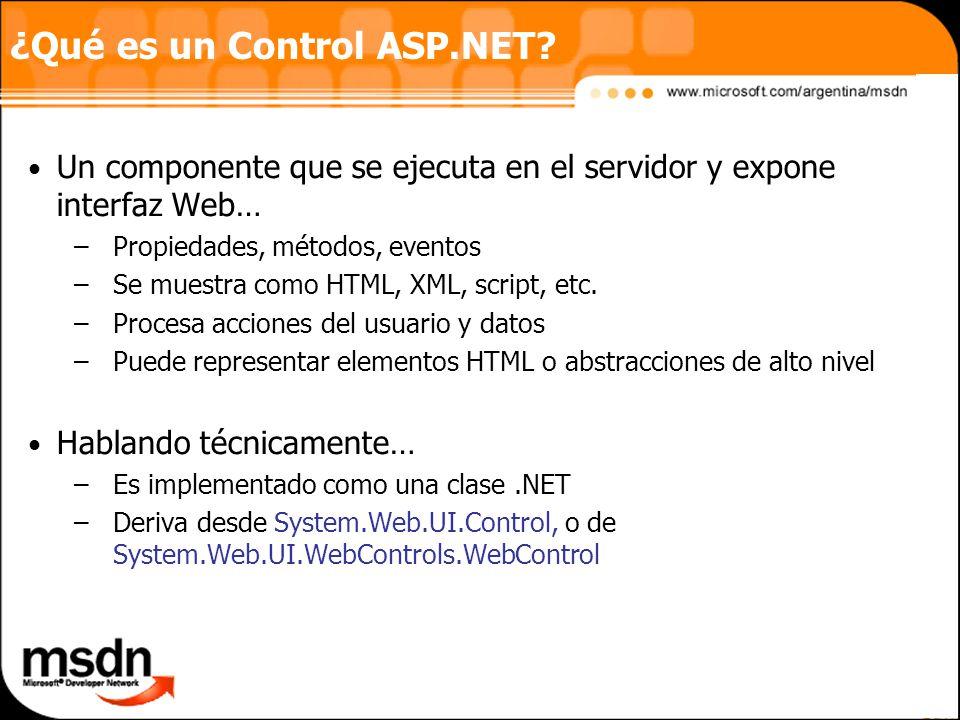 ¿Qué es un Control ASP.NET.