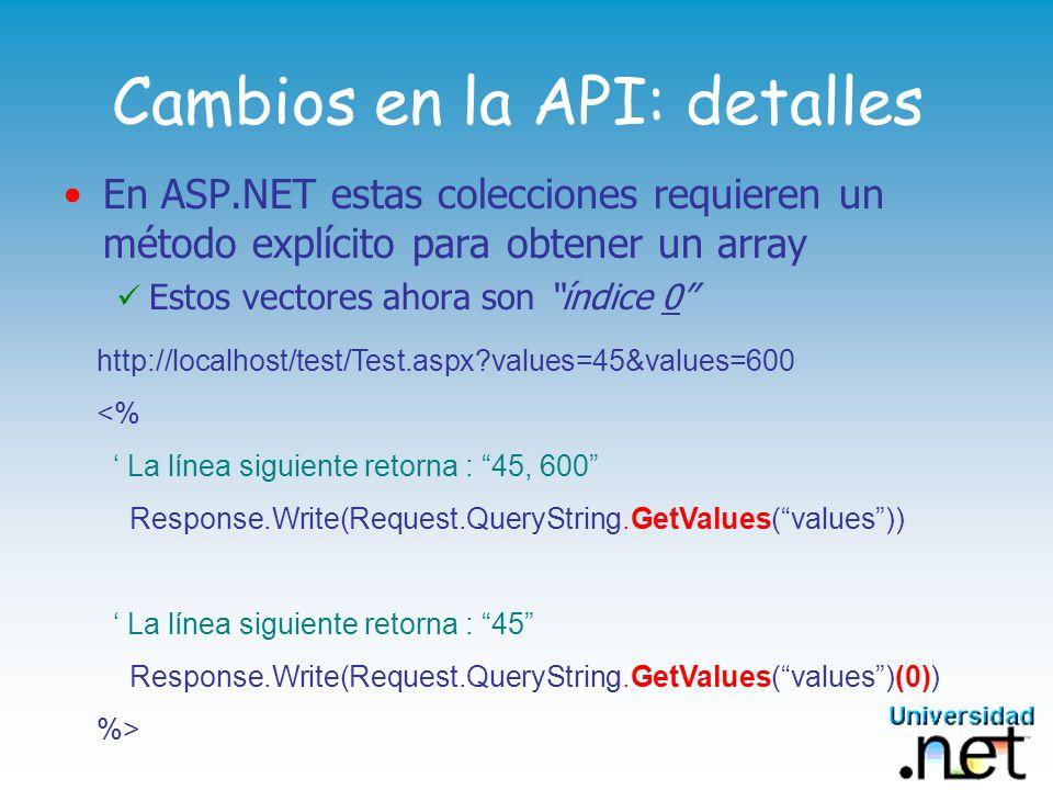 Paréntesis en Subrutinas En ASP.NET se requieren paréntesis al invocar una Sub Paréntesis en Response.Write() Sub HacerAlgo() Response.Write( ¡Hola, Mundo.