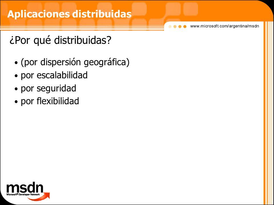Aplicaciones distribuidas ¿Por qué distribuidas.