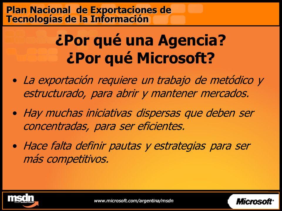 ¿Por qué una Agencia. ¿Por qué Microsoft.