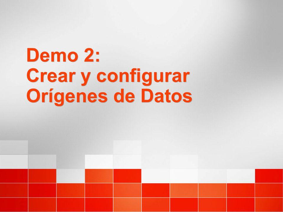 Demo 2: Crear y configurar Orígenes de Datos