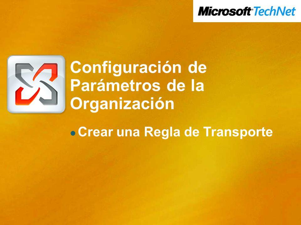 Configuración de Parámetros de la Organización Crear una Regla de Transporte