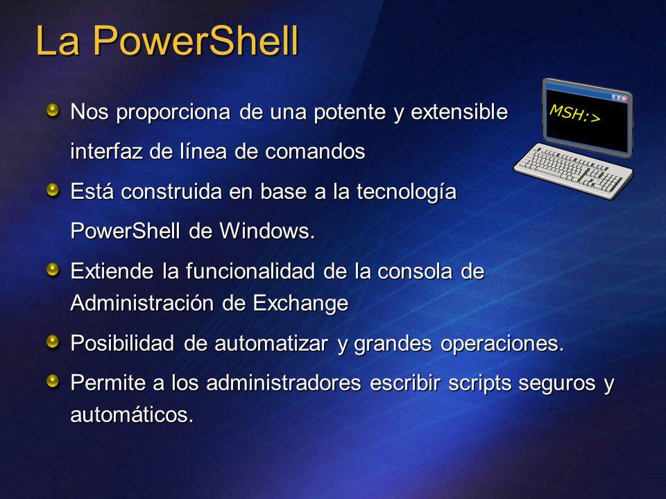 La PowerShell Nos proporciona de una potente y extensible interfaz de línea de comandos Está construida en base a la tecnología PowerShell de Windows.