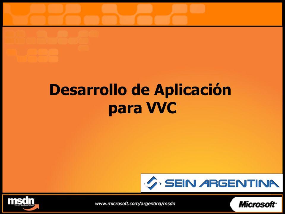 Desarrollo Aplicación para VVC VVC - Alcance Arquitectura Tecnología Utilizadas Presentación de la aplicación