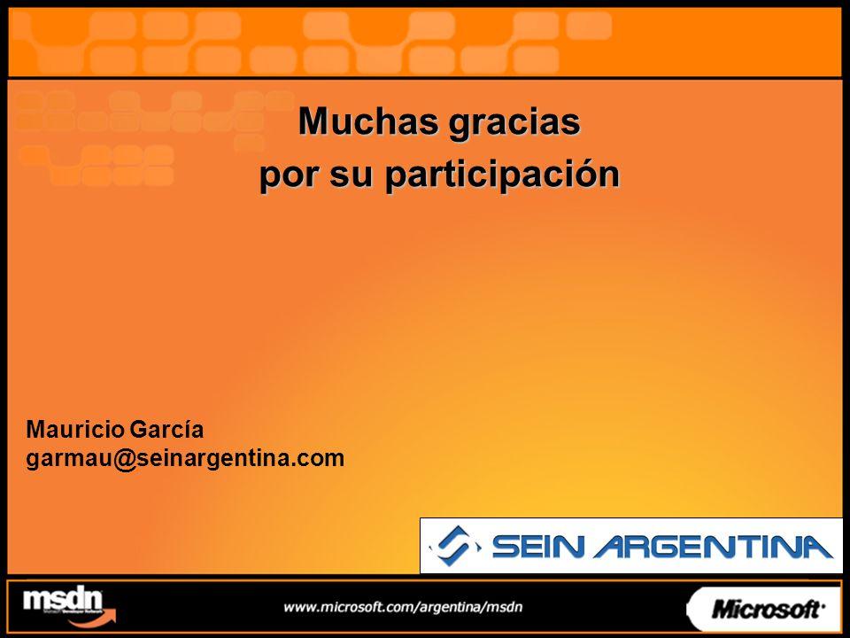 Muchas gracias por su participación Mauricio García garmau@seinargentina.com