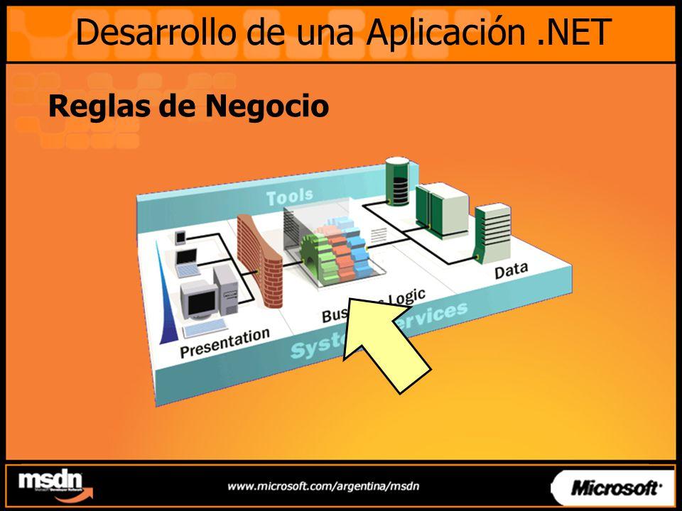 Reglas de Negocio Desarrollo de una Aplicación.NET