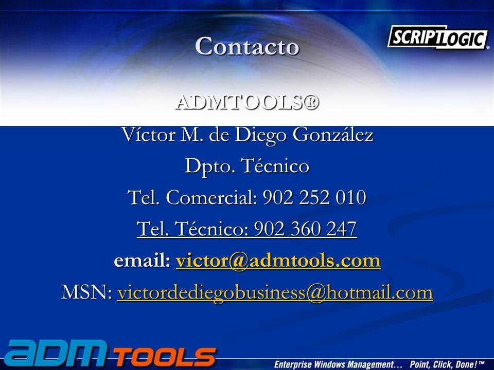 Contacto ADMTOOLS® Víctor M. de Diego González Dpto.
