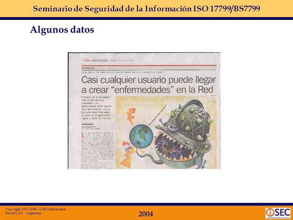Seminario de Seguridad de la Información ISO 17799/BS7799 2004 Copyright 2001-2004 / I-SEC Information Security SA. - Argentina INFORMATICA El objetiv
