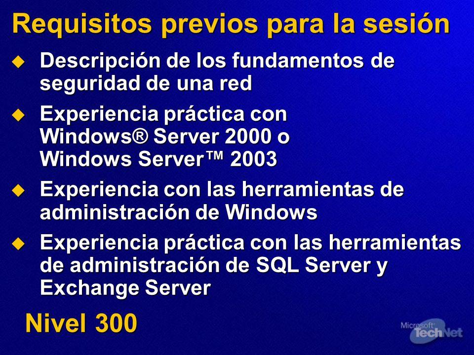Seguridad de SQL Establezca la autenticación como Sólo Windows Establezca la autenticación como Sólo Windows Si debe utilizar la autenticación de SQL Server, compruebe que se cifra el tráfico de autenticación Si debe utilizar la autenticación de SQL Server, compruebe que se cifra el tráfico de autenticación