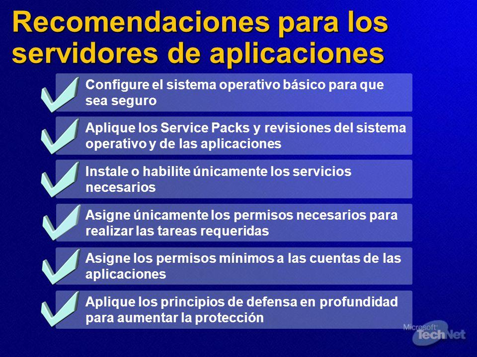 Diez principios básicos para proteger SQL Server Instale el Service Pack más reciente Ejecute MBSA Configure la autenticación de Windows Aísle el servidor y realice copias de seguridad de su contenido Compruebe la contraseña de sa Limite los privilegios de los servicios de SQL Server Bloquee los puertos en el servidor de seguridad Utilice NTFS Quite los archivos de configuración y las bases de datos de ejemplo Audite las conexiones 1 2 3 4 5 6 7 8 9 10