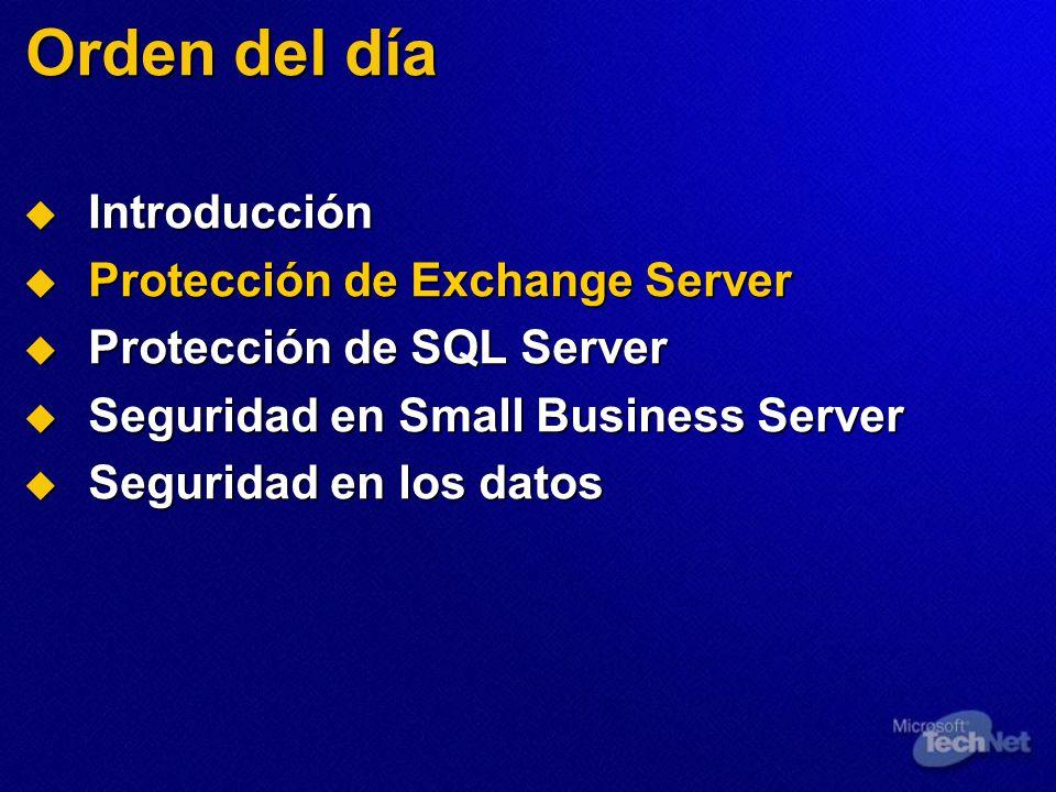 Seguridad de la red Limite SQL Server para que utilice TCP/IP Limite SQL Server para que utilice TCP/IP Refuerce la pila TCP/IP Refuerce la pila TCP/IP Restrinja los puertos Restrinja los puertos
