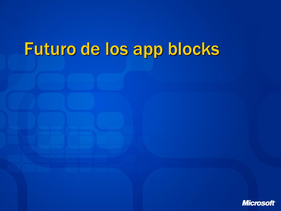 Futuro de los app blocks
