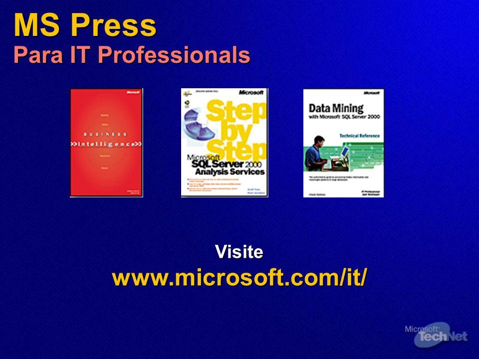 MS Press Para IT Professionals Visitewww.microsoft.com/it/