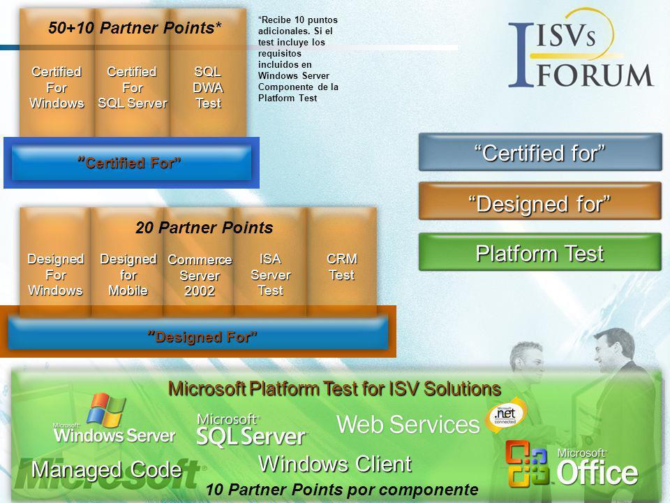 Infraestructura Avanzada Business Intelligence Productividad E-Business Microsoft Business Solutions Infraestructura de red Seguridad ISV/Software Formación OEM Hardware Gestión de Licencias Custom Development Soluciones de Movilidad Beneficios: Invirtiendo en función del ciclo de negocio del partner