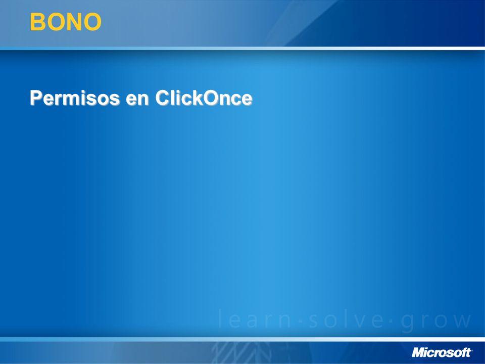 BONO Permisos en ClickOnce