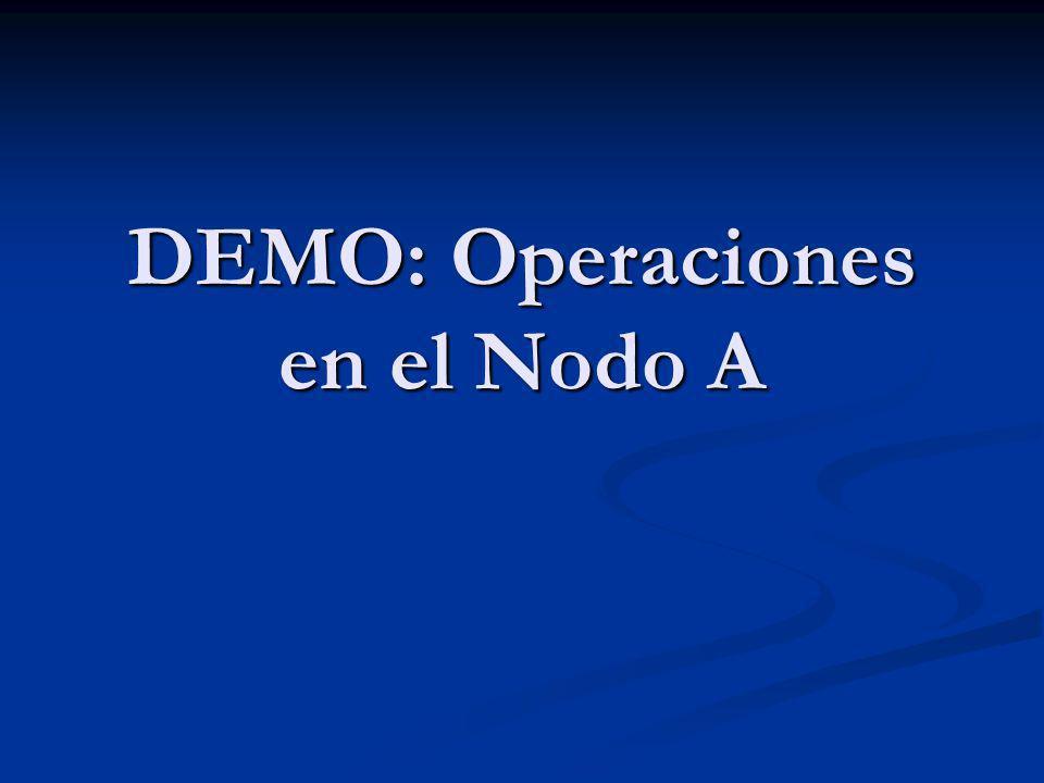 DEMO: Operaciones en el Nodo A