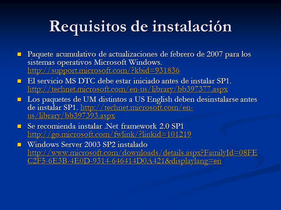 Requisitos de instalación Paquete acumulativo de actualizaciones de febrero de 2007 para los sistemas operativos Microsoft Windows.