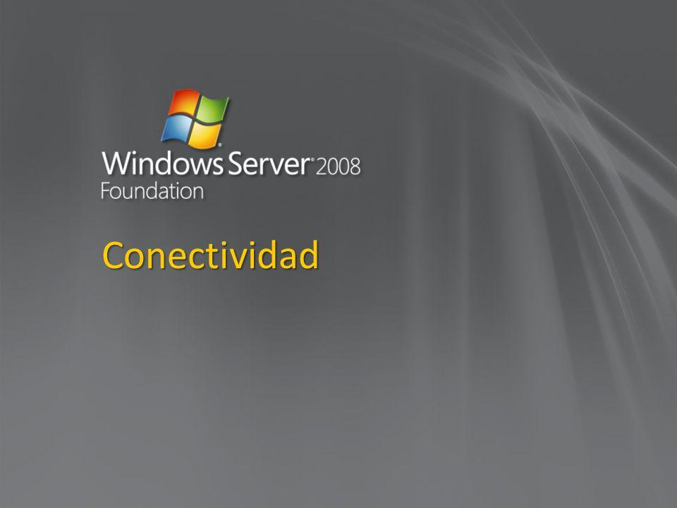 Conexiones SMB Máximo de 30 SMB conexiones Conexiones Server message block (SMB) para almacenamiento, compartir archivos e impresoras