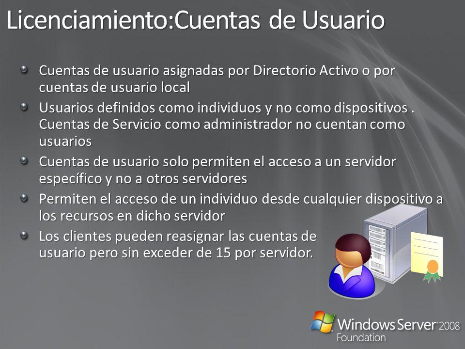 Licenciamiento: No permitido Compartir cuentas de usuario Correr virtualizado sobre Hyper-V o cualquier otra solución de virtualización Hyper-V Compartir licencias en más de un servidor