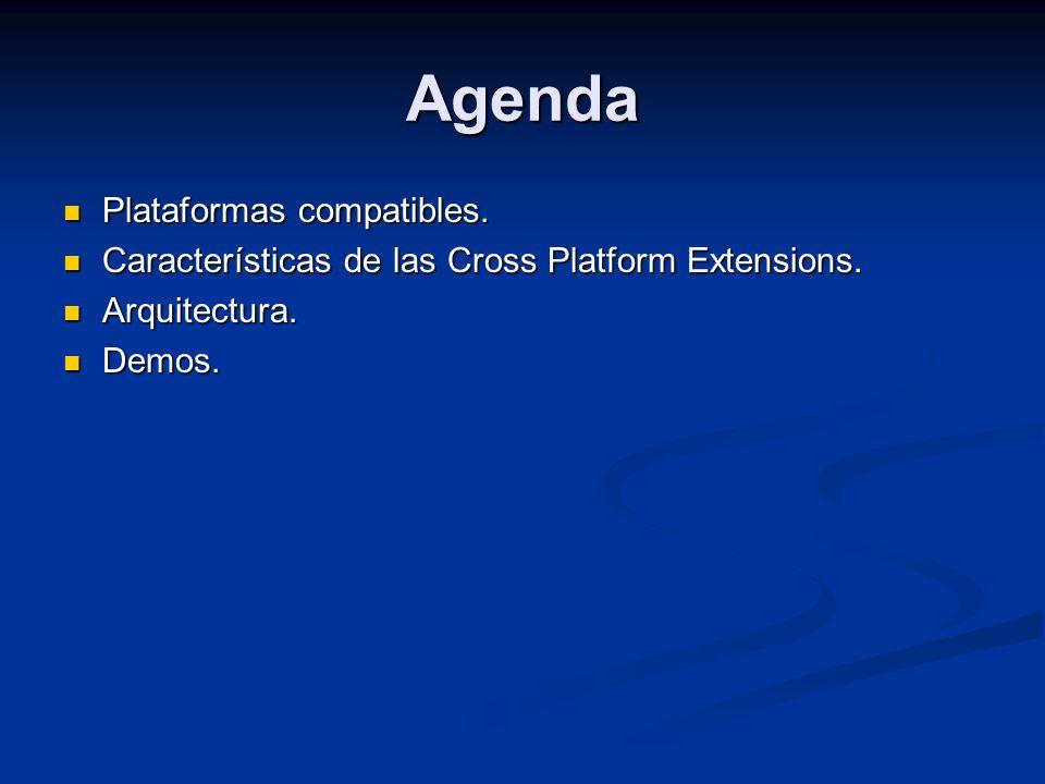 Plataformas compatibles. Plataformas compatibles. Características de las Cross Platform Extensions. Características de las Cross Platform Extensions.