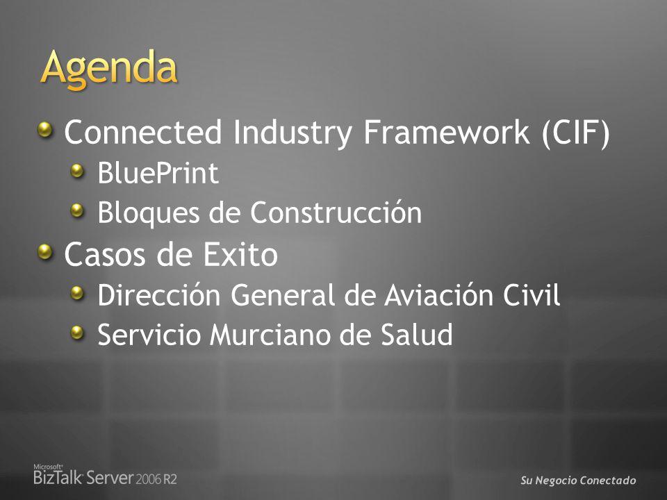 Su Negocio Conectado Connected Industry Framework (CIF) BluePrint Bloques de Construcción Casos de Exito Dirección General de Aviación Civil Servicio